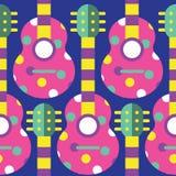 Άνευ ραφής σχέδιο κιθάρων Στοκ φωτογραφία με δικαίωμα ελεύθερης χρήσης