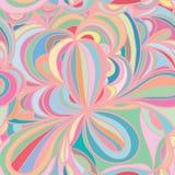 Άνευ ραφής σχέδιο κρητιδογραφιών κύκλων φύλλων λουλουδιών Στοκ Εικόνα