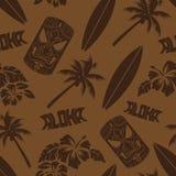 Άνευ ραφής σχέδιο κυματωγών Luau Tiki Aloha Στοκ εικόνες με δικαίωμα ελεύθερης χρήσης