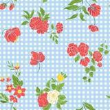 Άνευ ραφής σχέδιο με κεντημένα τα τρύγος λουλούδια Στοκ φωτογραφίες με δικαίωμα ελεύθερης χρήσης