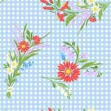 Άνευ ραφής σχέδιο με κεντημένα τα τρύγος λουλούδια Στοκ Φωτογραφίες