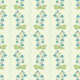 Άνευ ραφής σχέδιο με συρμένα τα χέρι bellflowers Στοκ εικόνες με δικαίωμα ελεύθερης χρήσης