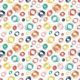 Άνευ ραφής σχέδιο με συρμένη τη χέρι doodle διακόσμηση Στοκ Εικόνα