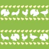 Άνευ ραφής σχέδιο με τα αγροτικά πουλιά Στοκ Εικόνα