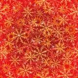 Άνευ ραφής σχέδιο με τα αστέρια και snowflakes Στοκ Φωτογραφία