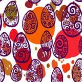 Άνευ ραφής σχέδιο με τα αυγά Ελεύθερη απεικόνιση δικαιώματος