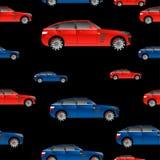 Άνευ ραφής σχέδιο με τα αυτοκίνητα για τις απεικονίσεις και διανυσματική απεικόνιση