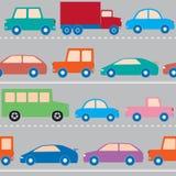 Άνευ ραφής σχέδιο με τα αυτοκίνητα Στοκ φωτογραφίες με δικαίωμα ελεύθερης χρήσης