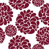 Άνευ ραφής σχέδιο με τα αφηρημένα burgundy λουλούδια Στοκ εικόνες με δικαίωμα ελεύθερης χρήσης