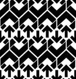 Άνευ ραφής σχέδιο με τα βέλη, γραπτός άπειρος γεωμετρικός Στοκ Φωτογραφία