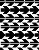 Άνευ ραφής σχέδιο με τα βέλη, γραπτός άπειρος γεωμετρικός Στοκ Εικόνα