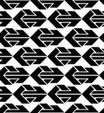 Άνευ ραφής σχέδιο με τα βέλη, γραπτός άπειρος γεωμετρικός Στοκ Φωτογραφίες