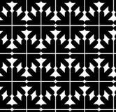 Άνευ ραφής σχέδιο με τα βέλη, γραπτός άπειρος γεωμετρικός Στοκ εικόνες με δικαίωμα ελεύθερης χρήσης