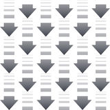 Άνευ ραφής σχέδιο με τα βέλη σε ένα άσπρο υπόβαθρο Στοκ Φωτογραφία