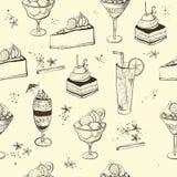 Άνευ ραφής σχέδιο με τα γλυκά ελεύθερη απεικόνιση δικαιώματος
