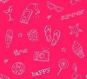 Άνευ ραφής σχέδιο με τα εικονίδια δερματοστιξιών περιγράμματος Ύφος Hipster Διακόσμηση για υφαντικό και το τύλιγμα Διανυσματική θ διανυσματική απεικόνιση