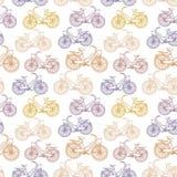 Άνευ ραφής σχέδιο με τα εκλεκτής ποιότητας ποδήλατα περιλήψεων Στοκ εικόνες με δικαίωμα ελεύθερης χρήσης