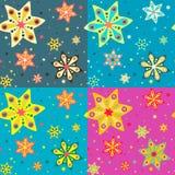 Άνευ ραφής σχέδιο με τα ζωηρόχρωμα αστέρια, διανυσματικό υπόβαθρο Στοκ Εικόνα