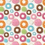 Άνευ ραφής σχέδιο με τα ζωηρόχρωμα νόστιμα στιλπνά donuts Στοκ φωτογραφίες με δικαίωμα ελεύθερης χρήσης