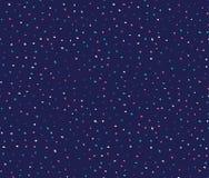 Άνευ ραφής σχέδιο με τα ζωηρόχρωμα σημεία στο σκούρο μπλε υπόβαθρο διανυσματική απεικόνιση