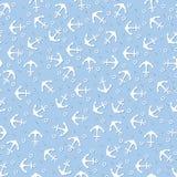 Άνευ ραφής σχέδιο με τα θαλάσσια στοιχεία Στοκ εικόνες με δικαίωμα ελεύθερης χρήσης