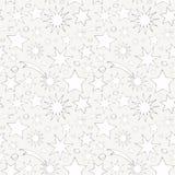 Άνευ ραφής σχέδιο με τα διακοσμητικά αστέρια Στοκ φωτογραφία με δικαίωμα ελεύθερης χρήσης