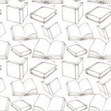Άνευ ραφής σχέδιο με τα διακοσμητικά βιβλία περιλήψεων Στοκ εικόνα με δικαίωμα ελεύθερης χρήσης