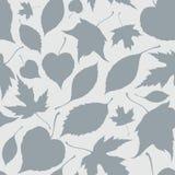 Άνευ ραφής σχέδιο με τα διακοσμητικά μειωμένα φύλλα Στοκ φωτογραφία με δικαίωμα ελεύθερης χρήσης