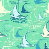 Άνευ ραφής σχέδιο με τα διακοσμητικά σκάφη Στοκ εικόνες με δικαίωμα ελεύθερης χρήσης