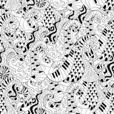 Άνευ ραφής σχέδιο με τα κύματα για την ενήλικη αντι σελίδα χρωματισμού πίεσης απεικόνιση αποθεμάτων