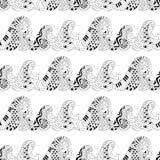 Άνευ ραφής σχέδιο με τα κύματα για την ενήλικη αντι σελίδα χρωματισμού πίεσης ελεύθερη απεικόνιση δικαιώματος