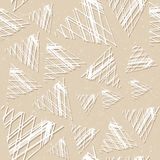 Άνευ ραφής σχέδιο με τα μεγάλα τρίγωνα Δικτυωτό πλέγμα των γραμμών Στοκ Φωτογραφίες
