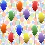 Άνευ ραφής σχέδιο με τα μπαλόνια Στοκ Εικόνα