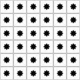 Άνευ ραφής σχέδιο με τα λουλούδια στα τετράγωνα Στοκ Φωτογραφίες