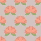 Άνευ ραφής σχέδιο με τα λουλούδια λωτού, Στοκ Φωτογραφίες