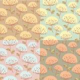Άνευ ραφής σχέδιο με τα λουλούδια Στοκ Εικόνα
