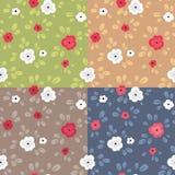 Άνευ ραφής σχέδιο με τα λουλούδια Στοκ Εικόνες