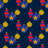 Άνευ ραφής σχέδιο με τα παιχνίδια Χριστουγέννων Στοκ εικόνα με δικαίωμα ελεύθερης χρήσης