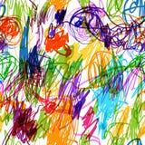 Άνευ ραφής σχέδιο με τα παιδαριώδη doodles για το σας Στοκ Εικόνες