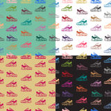 Άνευ ραφής σχέδιο με τα παπούτσια πάνινων παπουτσιών Στοκ φωτογραφίες με δικαίωμα ελεύθερης χρήσης