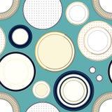 Άνευ ραφής σχέδιο με τα πιάτα Στοκ φωτογραφίες με δικαίωμα ελεύθερης χρήσης