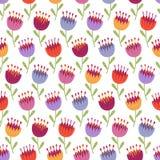 Άνευ ραφής σχέδιο με τα πολύχρωμα λουλούδια Στοκ φωτογραφία με δικαίωμα ελεύθερης χρήσης