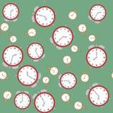Άνευ ραφής σχέδιο με τα ρολόγια 566 Στοκ φωτογραφία με δικαίωμα ελεύθερης χρήσης