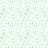 Άνευ ραφής σχέδιο με τα στοιχεία κήπων Στοκ Εικόνα
