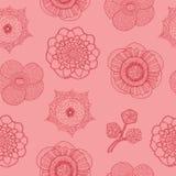 Άνευ ραφής σχέδιο με τα τροπικά λουλούδια Στοκ φωτογραφία με δικαίωμα ελεύθερης χρήσης