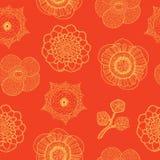 Άνευ ραφής σχέδιο με τα τροπικά λουλούδια Στοκ Εικόνες