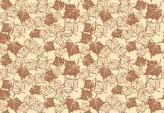 Άνευ ραφής σχέδιο με τα φύλλα σφενδάμου φθινοπώρου διάνυσμα ελεύθερη απεικόνιση δικαιώματος