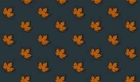 Άνευ ραφής σχέδιο με τα φύλλα σφενδάμου φθινοπώρου Στοκ εικόνες με δικαίωμα ελεύθερης χρήσης