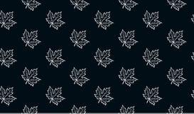 Άνευ ραφής σχέδιο με τα φύλλα σφενδάμου φθινοπώρου Στοκ Φωτογραφίες