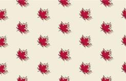 Άνευ ραφής σχέδιο με τα φύλλα σφενδάμου φθινοπώρου Στοκ εικόνα με δικαίωμα ελεύθερης χρήσης